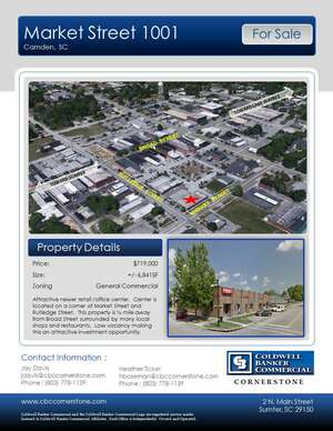 Commercial Property for Sale, ListingId:45306084, location: Market Street 1001 Camden 29020