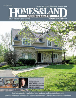 HOMES & LAND Magazine Cover. Vol. 09, Issue 08, Page 1.