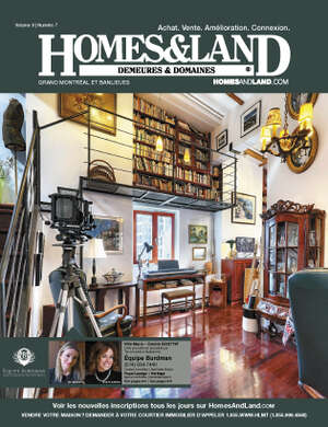 HOMES & LAND Magazine Cover. Vol. 09, Issue 07, Page 1.