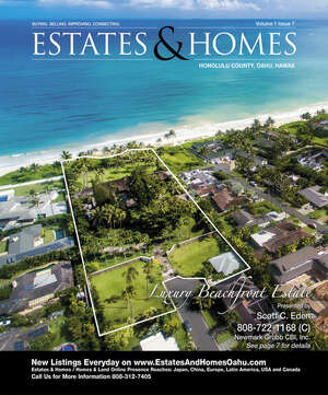 ESTATES & HOMES Magazine Cover. Vol. 01, Issue 07, Page 7.