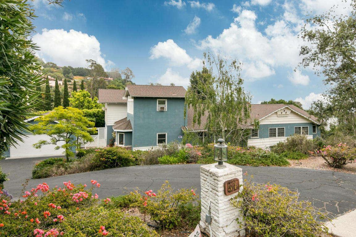 Single Family for Sale at 54 Nicholas Ln Santa Barbara, California 93108 United States