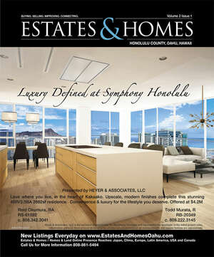 ESTATES & HOMES Magazine Cover. Vol. 02, Issue 01, Page 3.