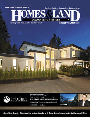 HOMES & LAND Magazine Cover.