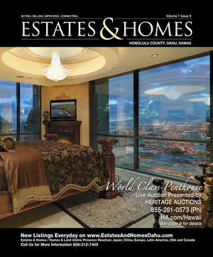 ESTATES & HOMES Magazine Cover. Vol. 01, Issue 08, Page 9.