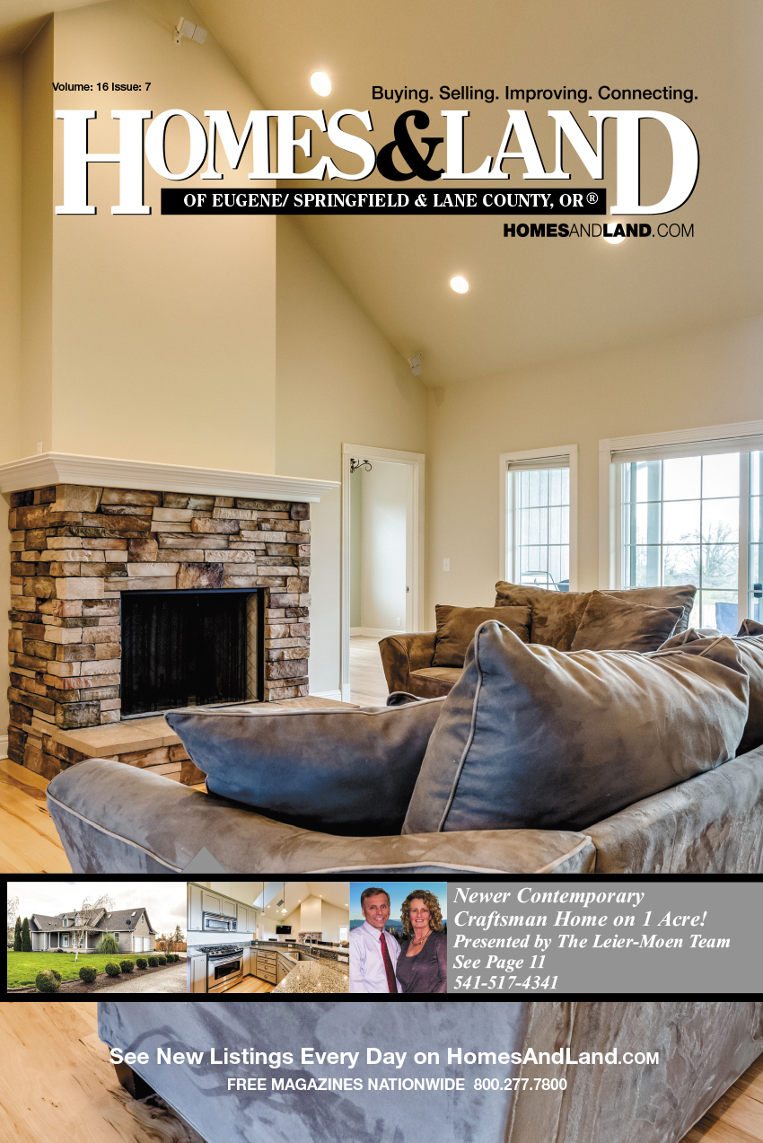 Homes & Land Digest of Eugene/Springfield & Lane County Magazine Cover