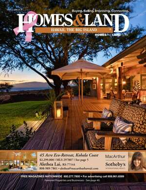 HOMES & LAND Magazine Cover. Vol. 27, Issue 08, Page 5.