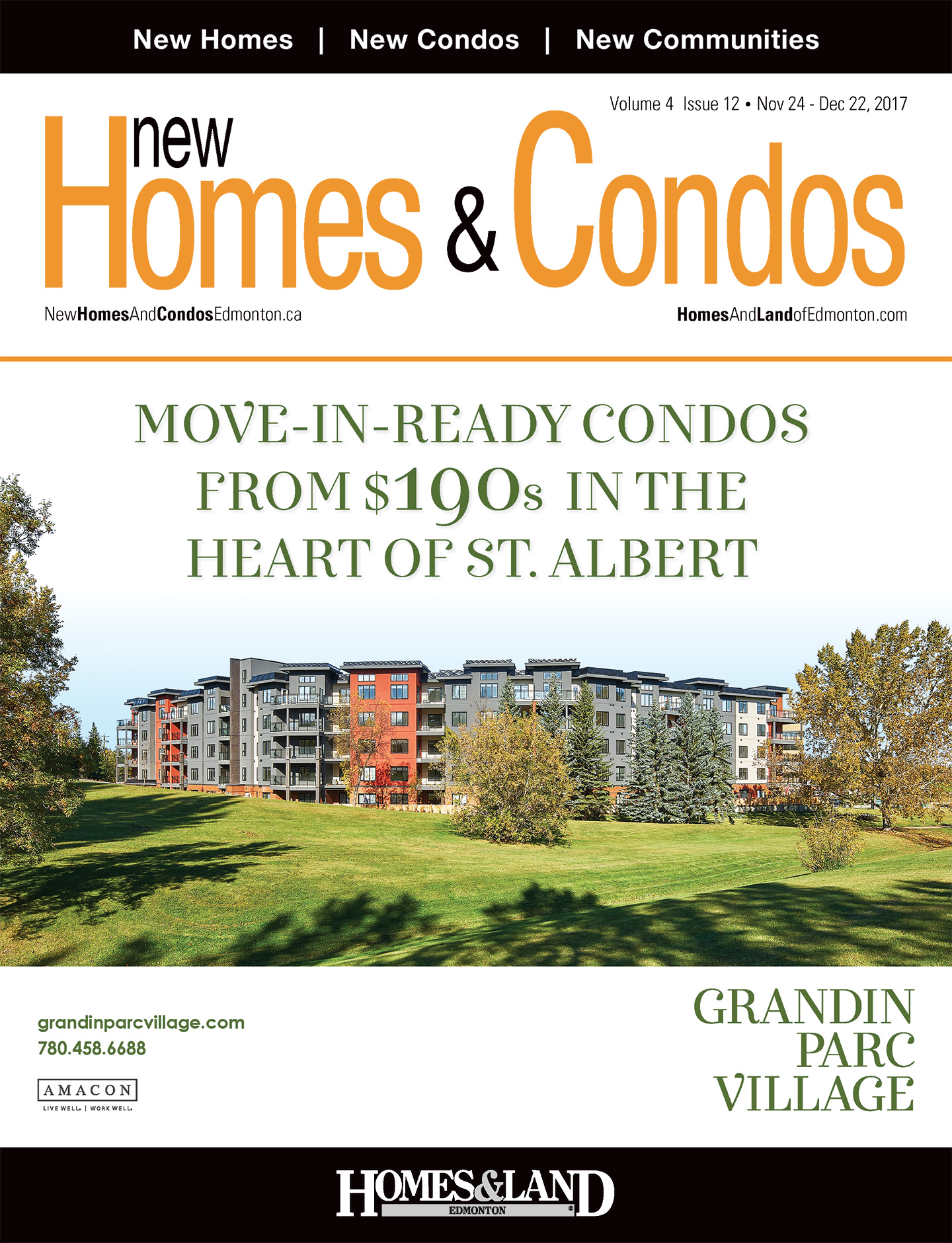 New Homes & Condos Edmonton Magazine Cover
