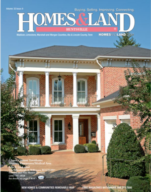 HOMES & LAND Magazine Cover. Vol. 32, Issue 08, Page 1.