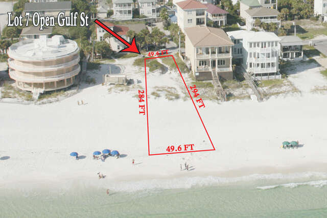 Investment for Sale at Lot 7 Open Gulf Street Miramar Beach, Florida 32550 United States